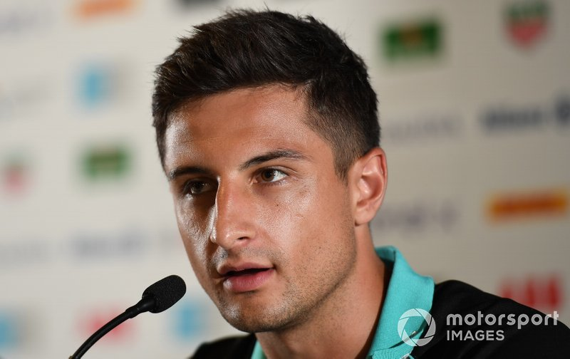 Mitch Evans, Panasonic Jaguar Racing in the press conference
