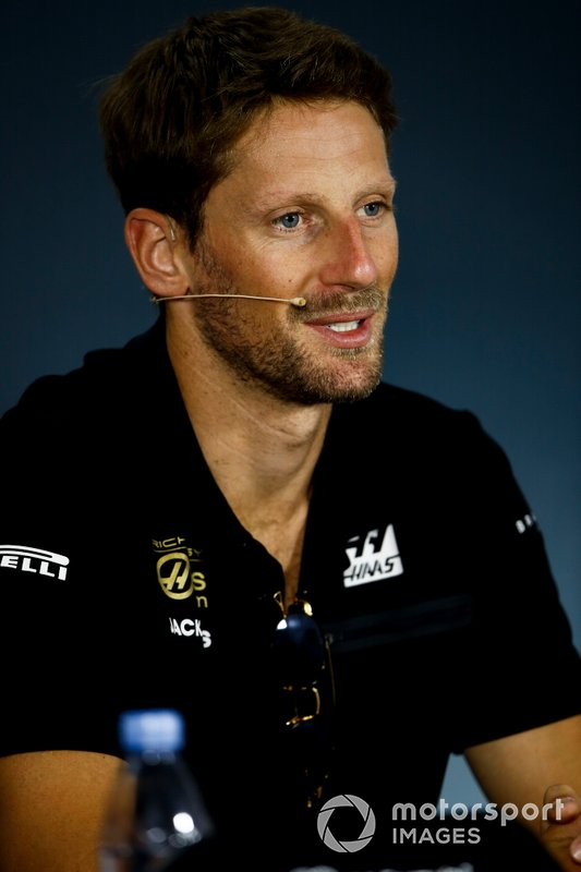 Romain Grosjean, Haas F1 in the Press Conference