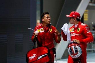 Pole sitter Charles Leclerc, Ferrari