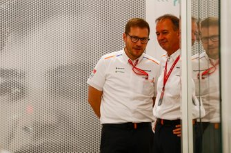 Andreas Seidl, Team Principal, McLaren, and Jonathan Neale, Managing Director, McLaren