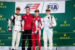 Marcus Armstrong, PREMA Racing Leonardo Pulcini, Hitech Grand Prix and Jake Hughes, HWA RACELAB