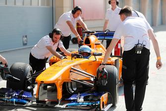 Jimmie Johnson in the McLaren