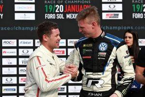 Tom Kristensen, Johan Kristoffersson van Team Nordic winnen de ROC Nations Cup