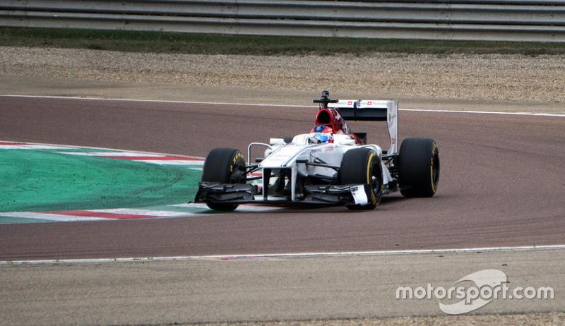 Tatiana Calderón, Formula 1 Sauber Testi