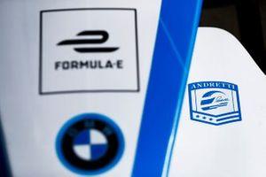 Эмблема команды Andretti на носовом обтекателе BMW iFE.18