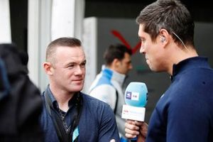Footballer Wayne Rooney speaks to presenter Vernon Kaye