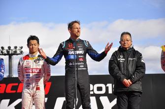 Jenson Button, Yamamoto Naoki und Takahashi Kunimitsu