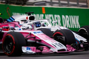 Esteban Ocon, Racing Point Force India VJM11, Lance Stroll, Williams FW41