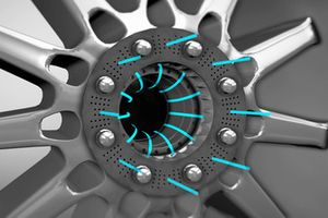 Mercedes F1 AMG W09 rim animation