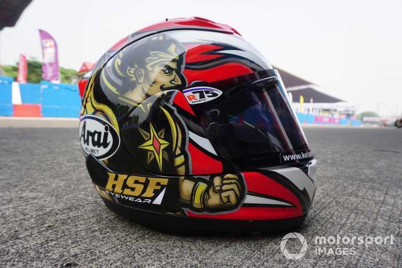 Desain helm spesial Gatotkaca milik Wahyu Aji Trilaksana, Yamaha Racing Indonesia