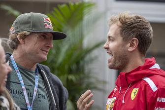 Robby Naish, Surfer en Sebastian Vettel, Ferrari