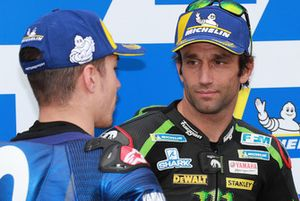 Second place Maverick Viñales, Yamaha Factory Racing, third place Johann Zarco, Monster Yamaha Tech 3