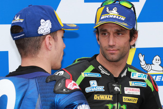 Secondo Maverick Viñales, Yamaha Factory Racing, terzo Johann Zarco, Monster Yamaha Tech 3