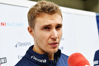 Sergey Sirotkin, Williams Racing talks to the media