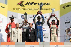 First placed Rohit Khanna, Dark Don, second placed Raghul Rangasamy, Msport, third placed Sandeep Kumar, Dark Don
