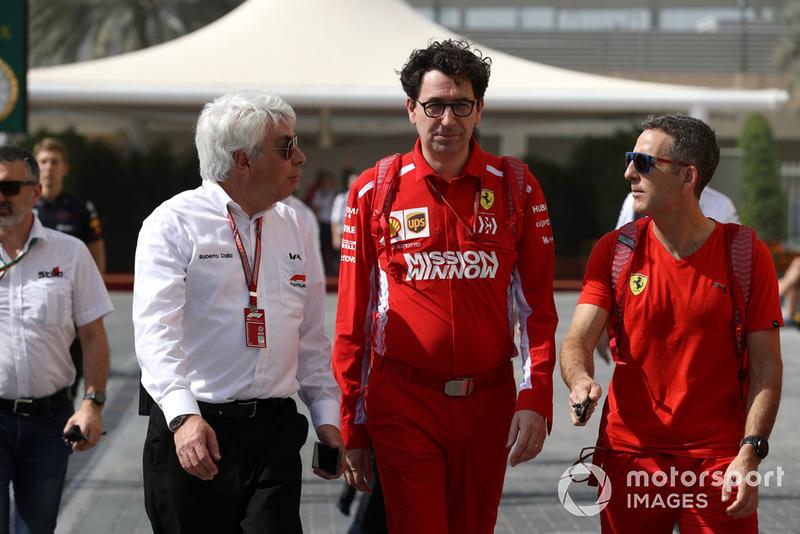 Roberto Dalla ve Mattia Binotto, Ferrari Teknik Şefi