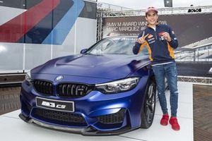 Marc Marquez et sa BMW M3 CS remportée grâce au BMW M Award