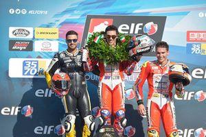 Il Campione 2018 Michele Pirro, Barni Racing, sul Podio di Gara 2