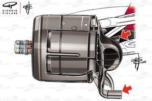 Ferrari SF71 brake duct, captioned, Suzuka