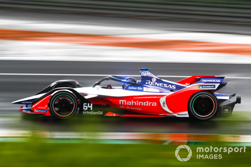 Jérôme d'Ambrosio, Mahindra Racing, M5 Electro with the new hyper boost LED lights on the halo