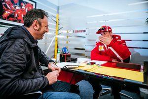 Kimi Raikkonen, Ferrari with Roberto Chinchero