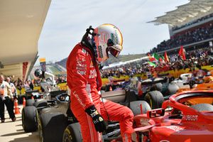 Sebastian Vettel, Ferrari SF71H, Parc Ferme
