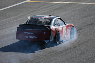 Ryan Preece, Joe Gibbs Racing, Toyota Camry Craftsman with crash damage