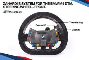 El sistema Zanardi para el BMW M4 DTM, volante parte delantera