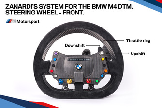 Zanardi's system for the BMW M4 DTM, steering wheel front