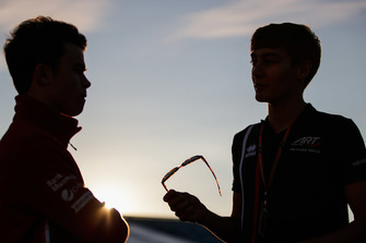 Nyck De Vries, PREMA Racing, George Russell, ART Grand Prix