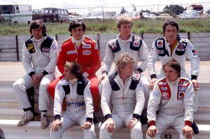 Jean-Pierre Jarier, Patrick Tambay, Didier Pironi, Patrick Depailler, Jacques Lafitte, Jean-Pierre Jabouille, Rene Arnoux