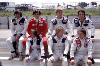 Jean-Pierre Jarier, ATS Ford, Patrick Tambay, Ferrari, Didier Pironi, Patrick Depailler, Tyrrell Ford, Jacques Lafitte, Ligier Matra, Jean-Pierre Jabouille, Renault and Rene Arnoux, Martini Ford