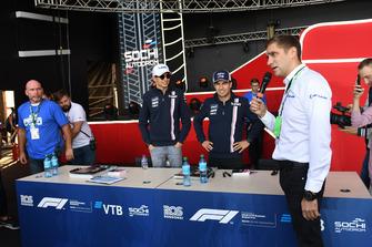 Esteban Ocon, Racing Point Force India F1 Team en Sergio Perez, Racing Point Force India F1 Team