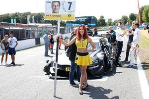Grid girl of Bruno Spengler, BMW Team RBM