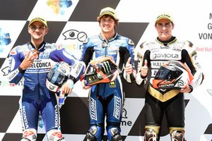 Top 3 after qualifying, Jorge Martin, Del Conca Gresini Racing Moto3, Marco Bezzecchi, Prustel GP, Albert Arenas, Ángel Nieto Team Moto3