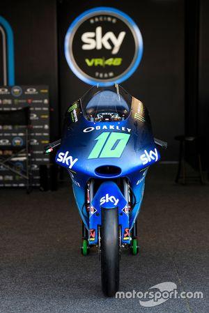La KTM de Dennis Foggia, Sky Racing Team VR46, con el diseño especial