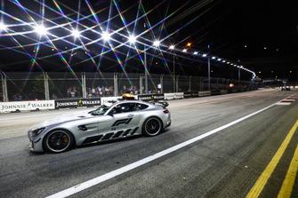 The Safety Car leads Lewis Hamilton, Mercedes AMG F1 W09 EQ Power+
