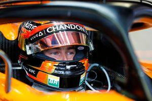 Stoffel Vandoorne, McLaren, in de cockpit