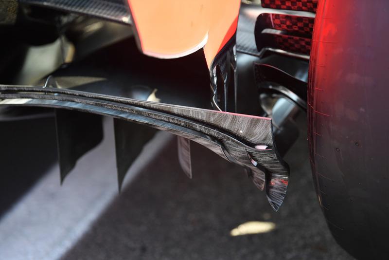 Ferrari SF71H rear diffuser detail