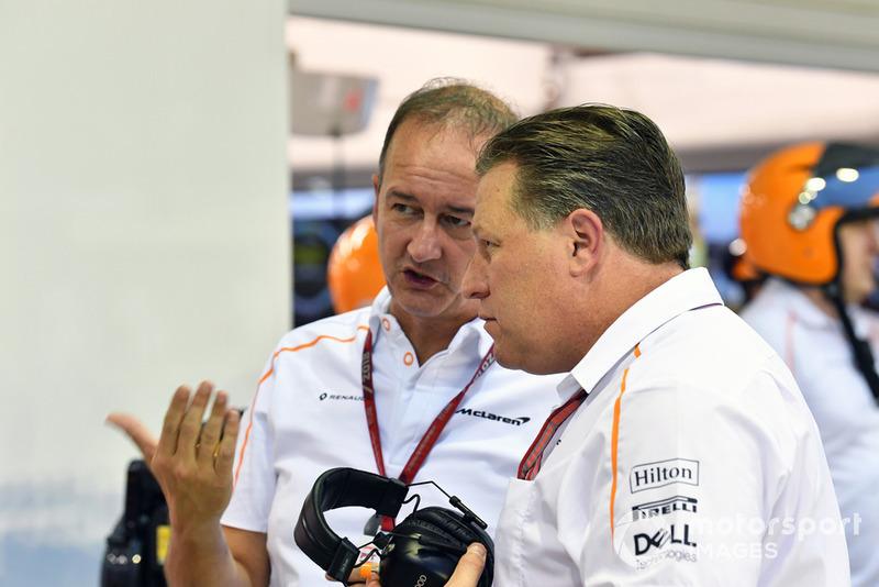 Jonathan Neale, Dyrektor Zarządzający McLarena i Zak Brown, Dyrektor Generalny McLarena