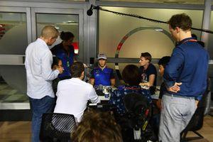 Pierre Gasly, Scuderia Toro Rosso parle avec les médias