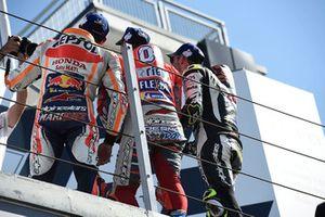 Podium: race winner Andrea Dovizioso, Ducati Team, second place Marc Marquez, Repsol Honda Team, third place Cal Crutchlow, Team LCR Honda