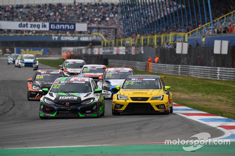 Stefano Comini, THX Racing Civic Type R TCR, Stian Paulsen, Stian Paulsen Racing Cupra TCR