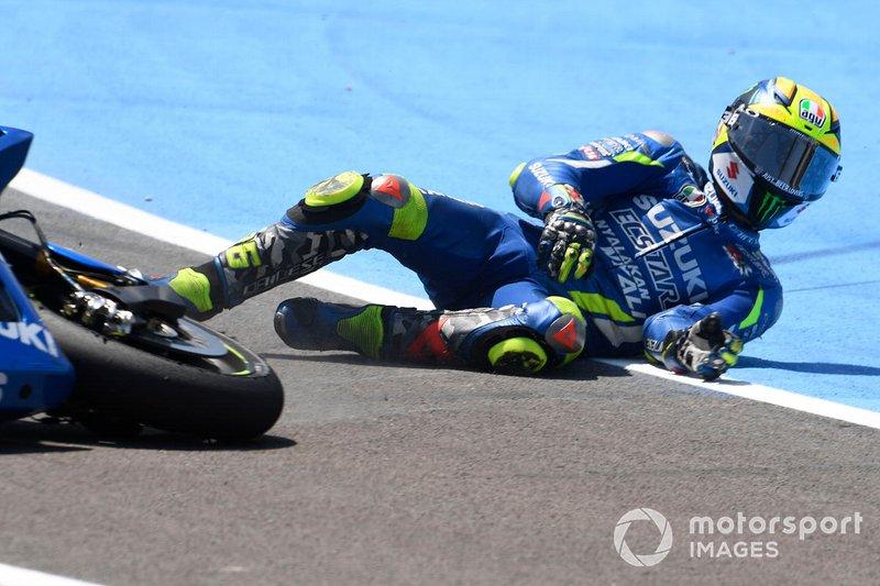 Caída de Joan Mir, Team Suzuki MotoGP