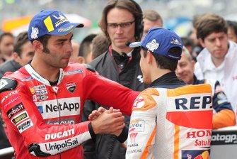 Polesitter Marc Marquez, Repsol Honda Team, second place Danilo Petrucci, Ducati Team