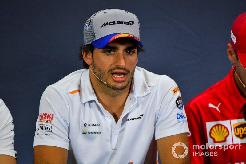 Carlos Sainz Jr., McLaren en Conferencia de Prensa