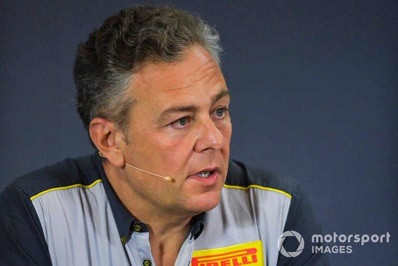 Mario Isola, Racing Manager, Pirelli Motorsport en la conferencia de prensa sobre los nuevos neumáticos de F2