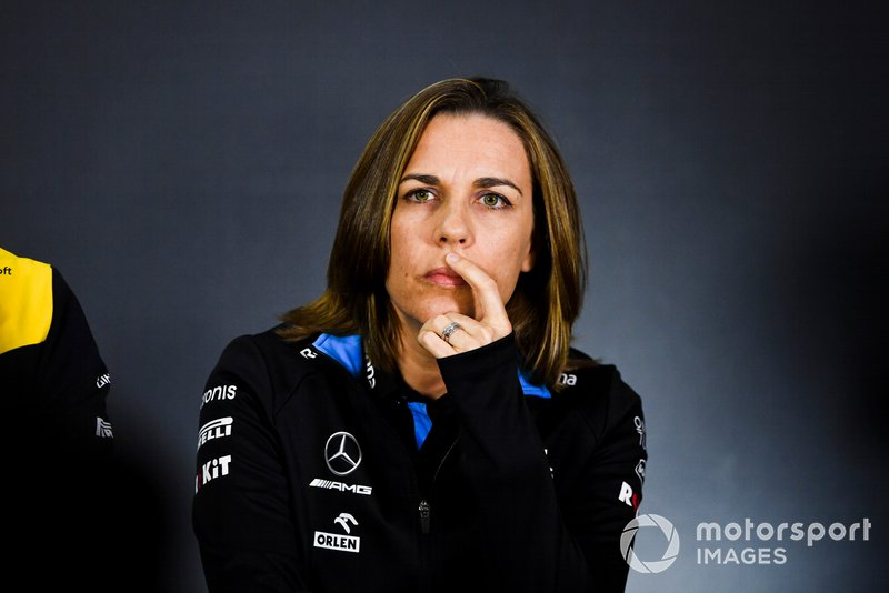 Claire Williams, Vice Team Principal, Williams Racing, durante la conferenza stampa