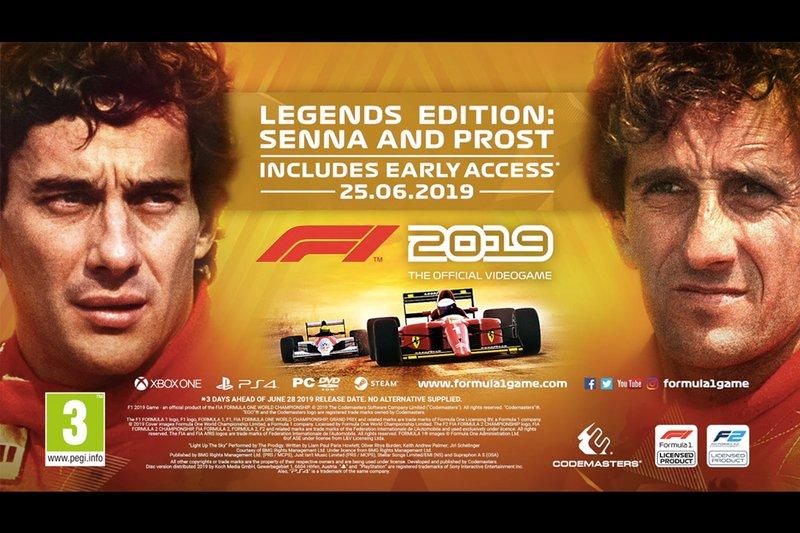 L'édition légendes de F1 2019, Prost/Senna