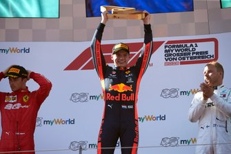 Race winner Max Verstappen, Red Bull Racing, on the podium